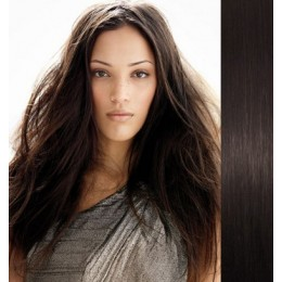 24 inch (60cm) Clip in human REMY hair - natural black