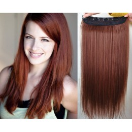 20 inches one piece full head 5 clips clip in hair weft extensions straight – platinum / light brown