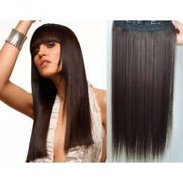 24 inches one piece full head 5 clips clip in kanekalon weft straight – natural black