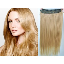 24 inches one piece full head 5 clips clip in kanekalon weft straight – light brown